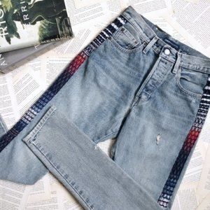 NWT LEVI'S Made & Crafted 501 Skinny Stripe Jeans